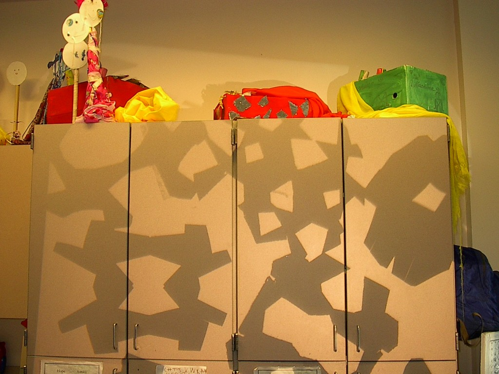 Shadow Puppets made by children