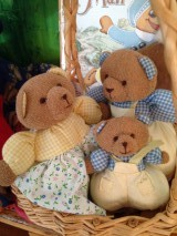 Three bears puppets